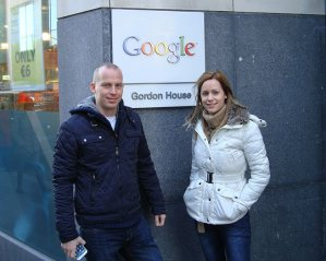 At the European Google Headquarters